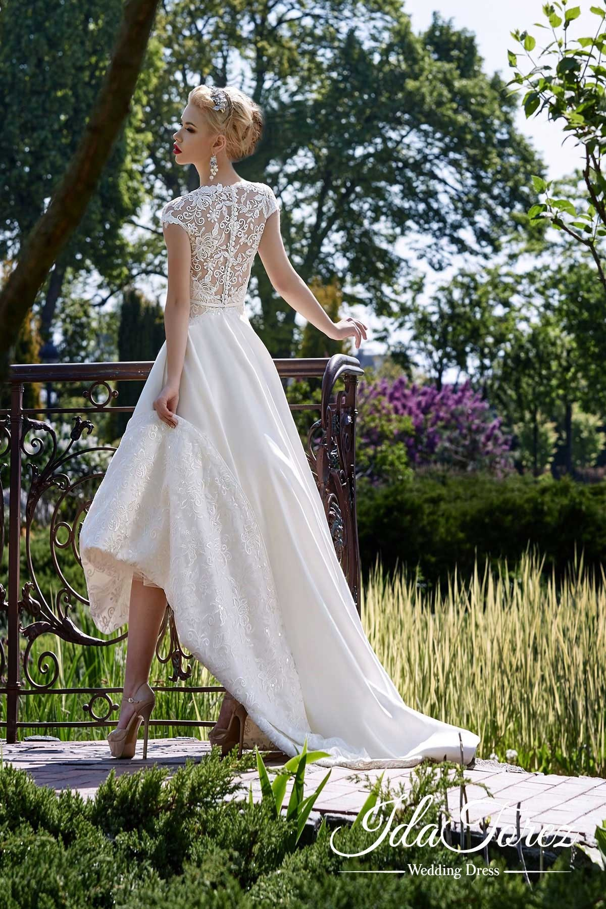 Cocomelody: Asymmetrical High-Low Satin Buttons Wedding Dress Sashes ...