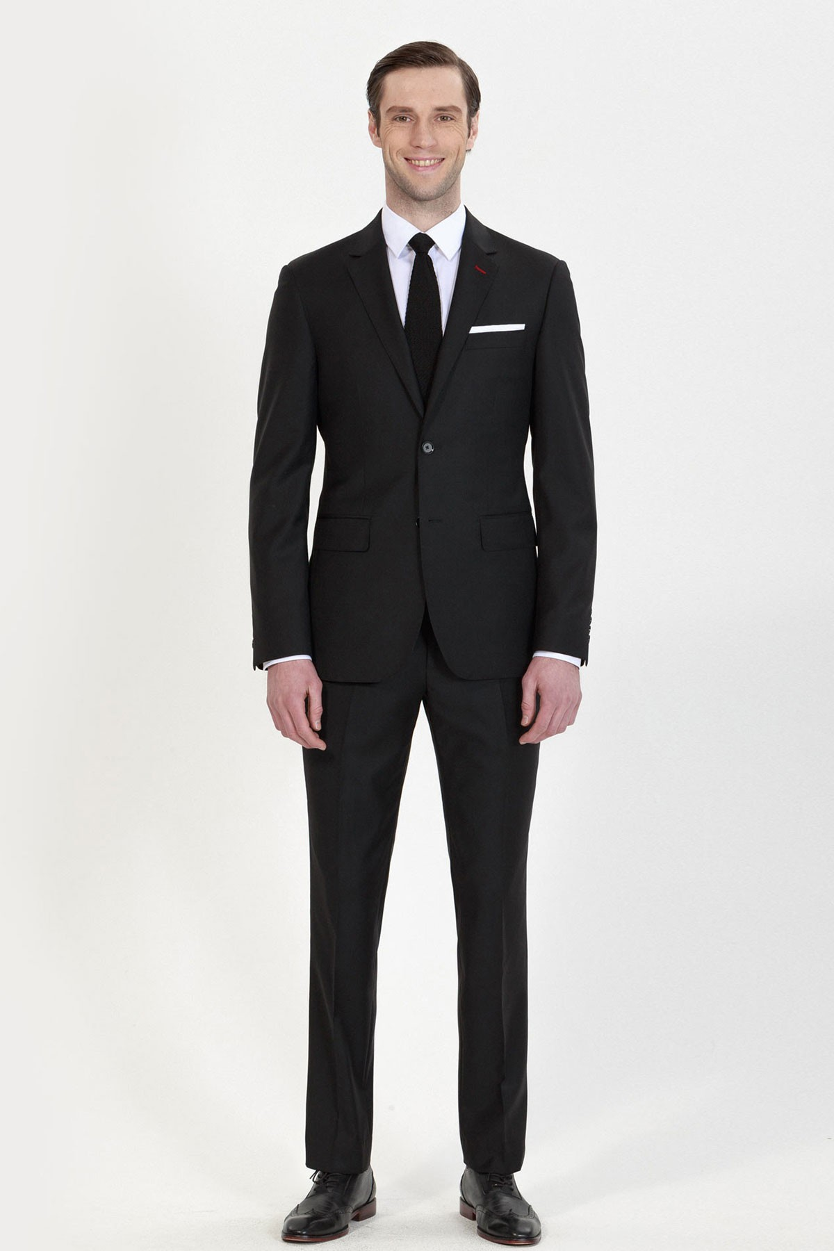 Men S Black Wedding Fashion Two Piece Suit Id 692 Cocomelody