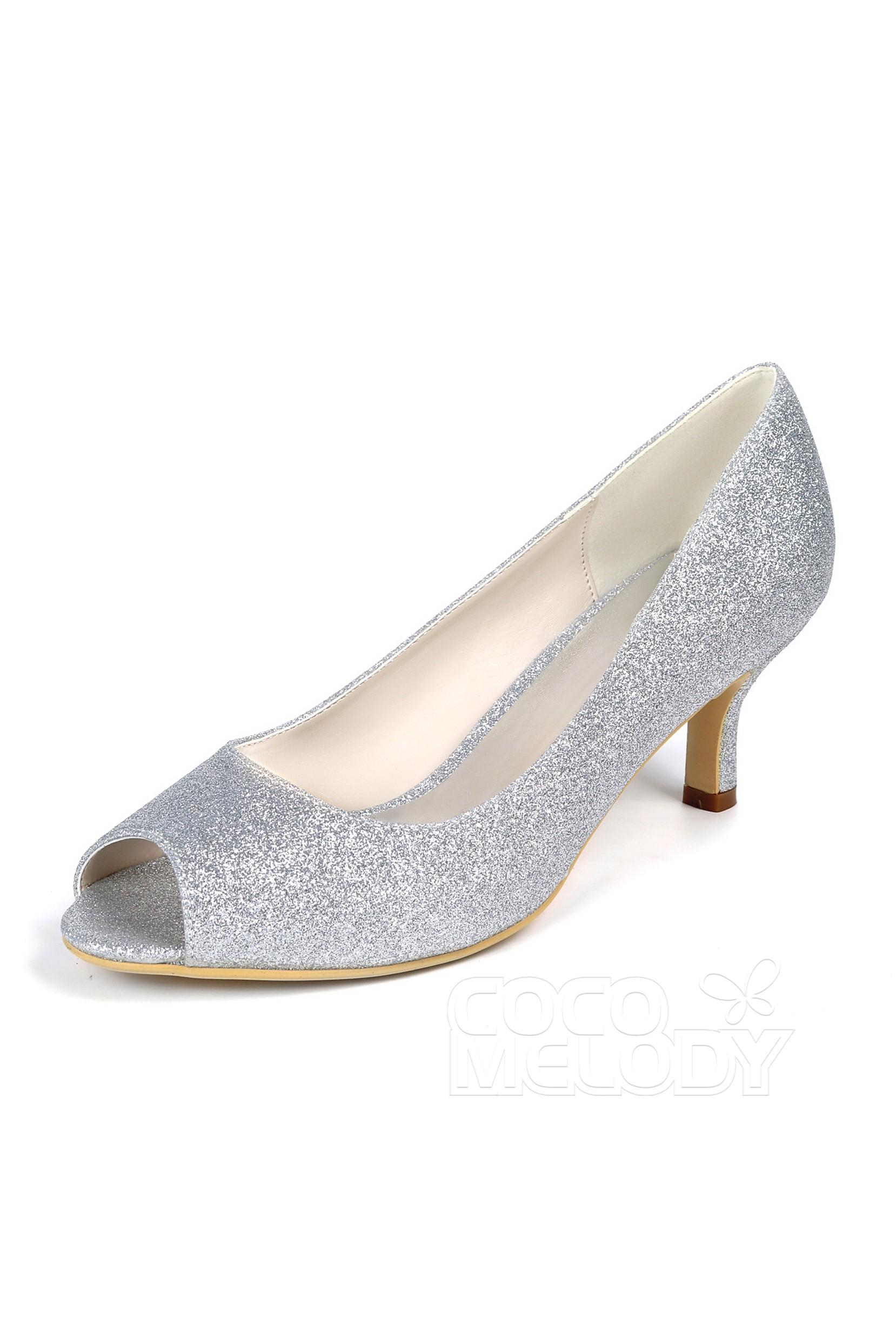peep toe small heel
