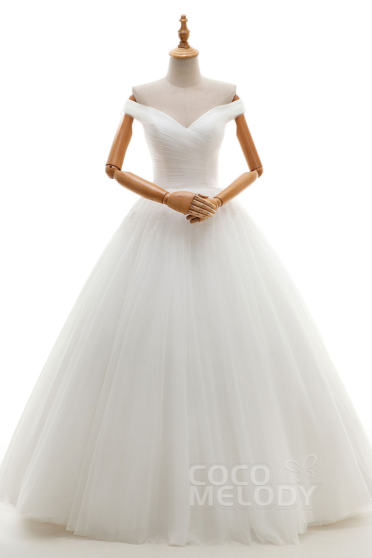 A Line Floor Length Tulle Wedding Dress Jwlf16001 Cocomelody