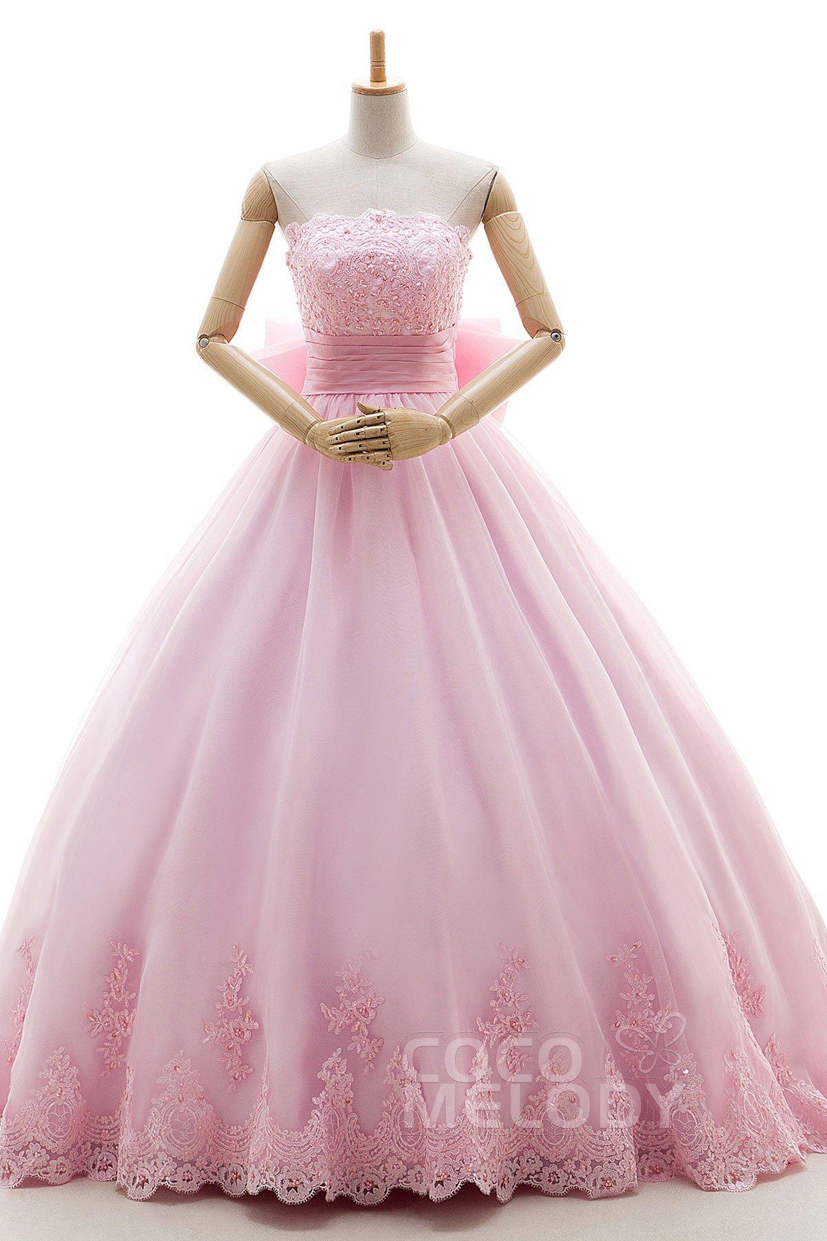 Cocomelody: A-Line Court Train Organza Wedding Dress Appliques ...