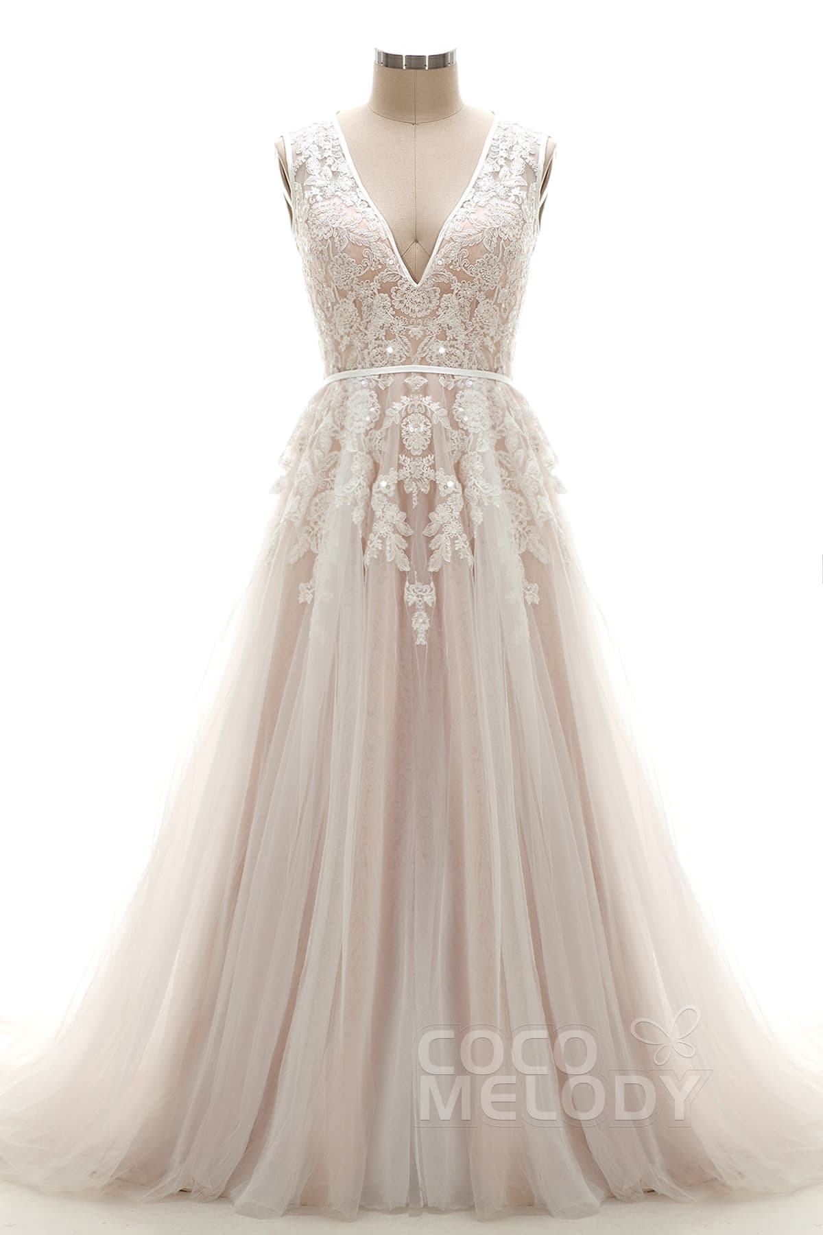 532622f25f Try at Home A-Line Court Train Tulle and Lace Wedding Dress LD3932TR