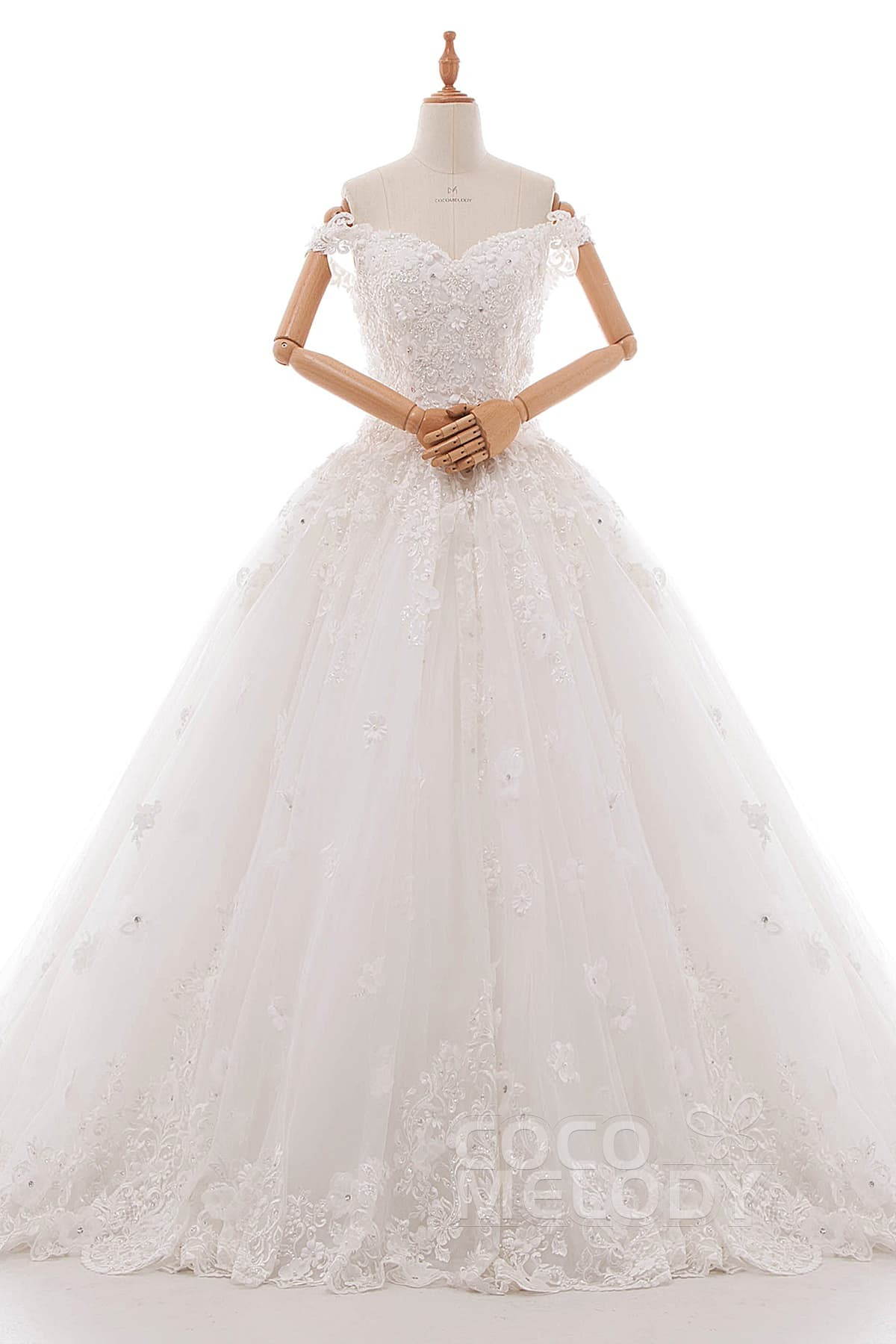 PrincessTulle Lace and Organza Wedding Dress LD4971 | Cocomelody