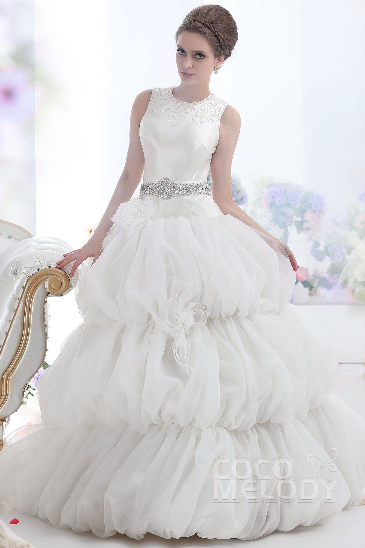 Ball Gown Floor Length Organza Wedding Dress CWZF13003 | Cocomelody