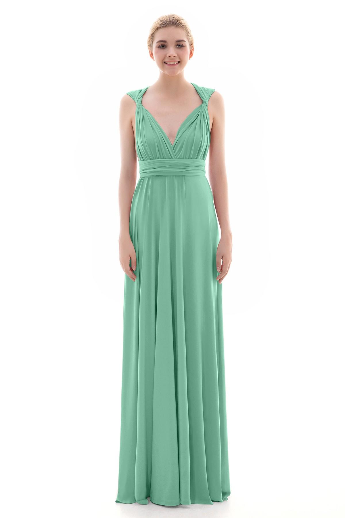 92225356d3c Sheath-Column Floor Length Knitted Fabric Dress COEF16001