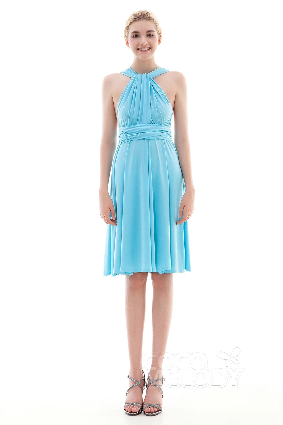 Sheath Column Knee Length Knitted Fabric Dress Coek16002