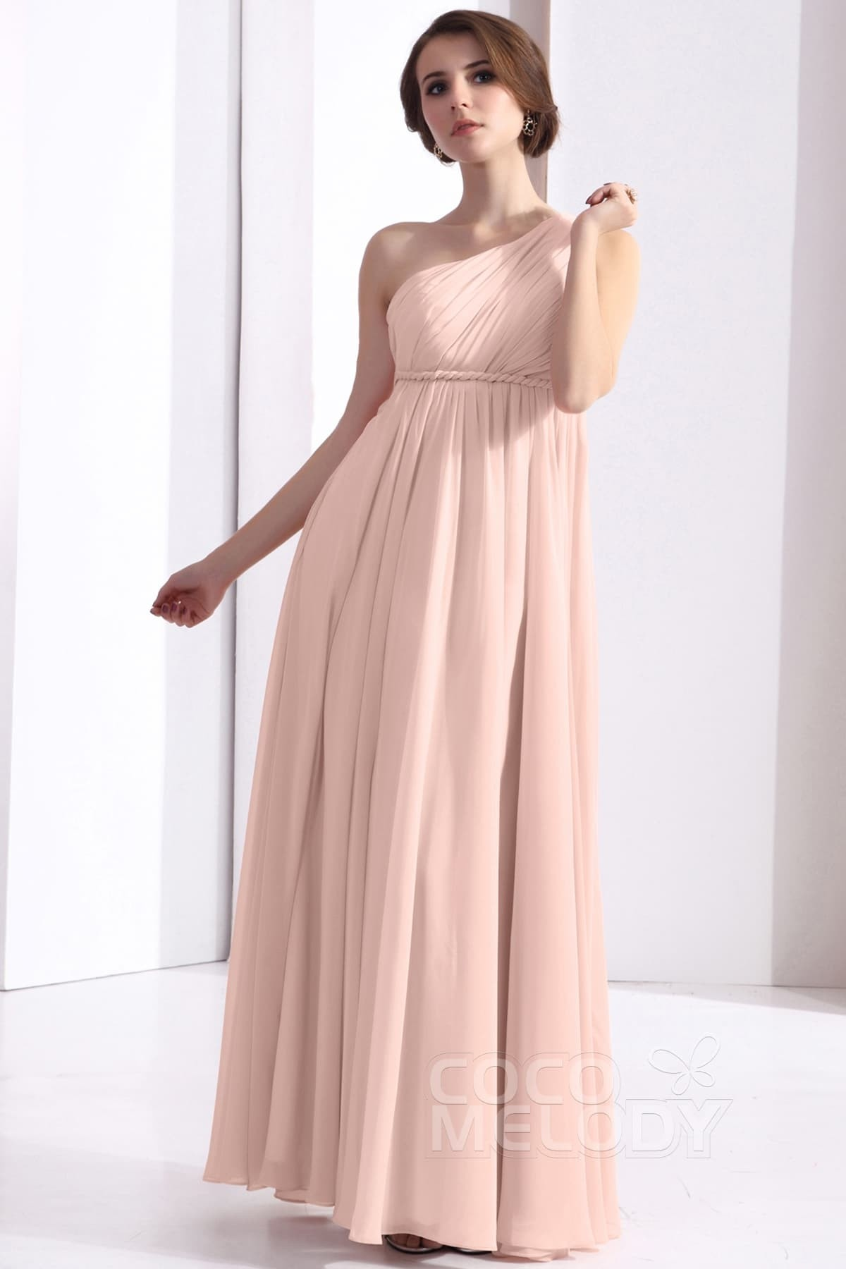 Sheath-Column Floor Length Chiffon Dress COSF1300D | Cocomelody