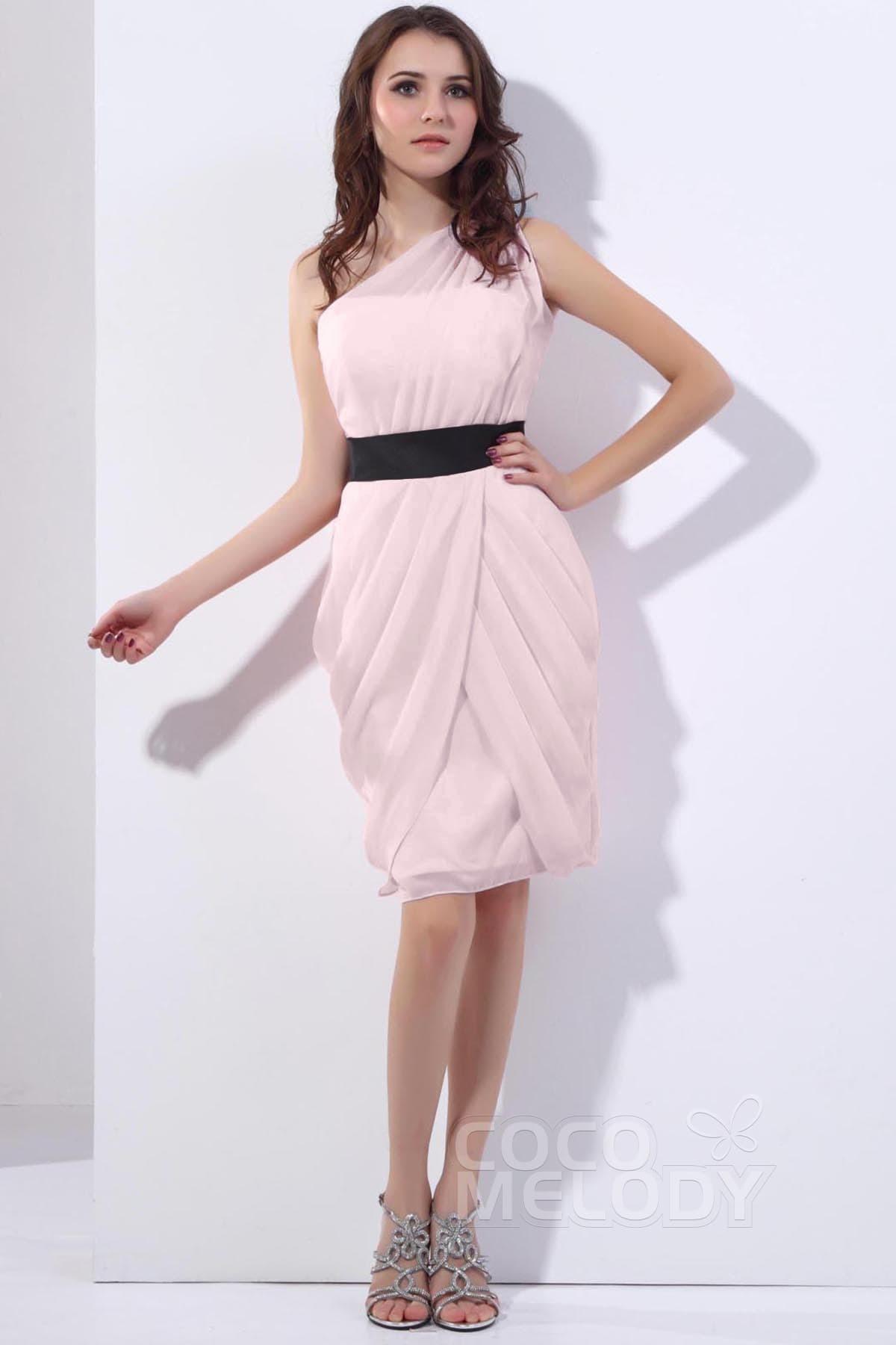 Sheath Column Knee Length Chiffon Dress Cozk13008 Cocomelody