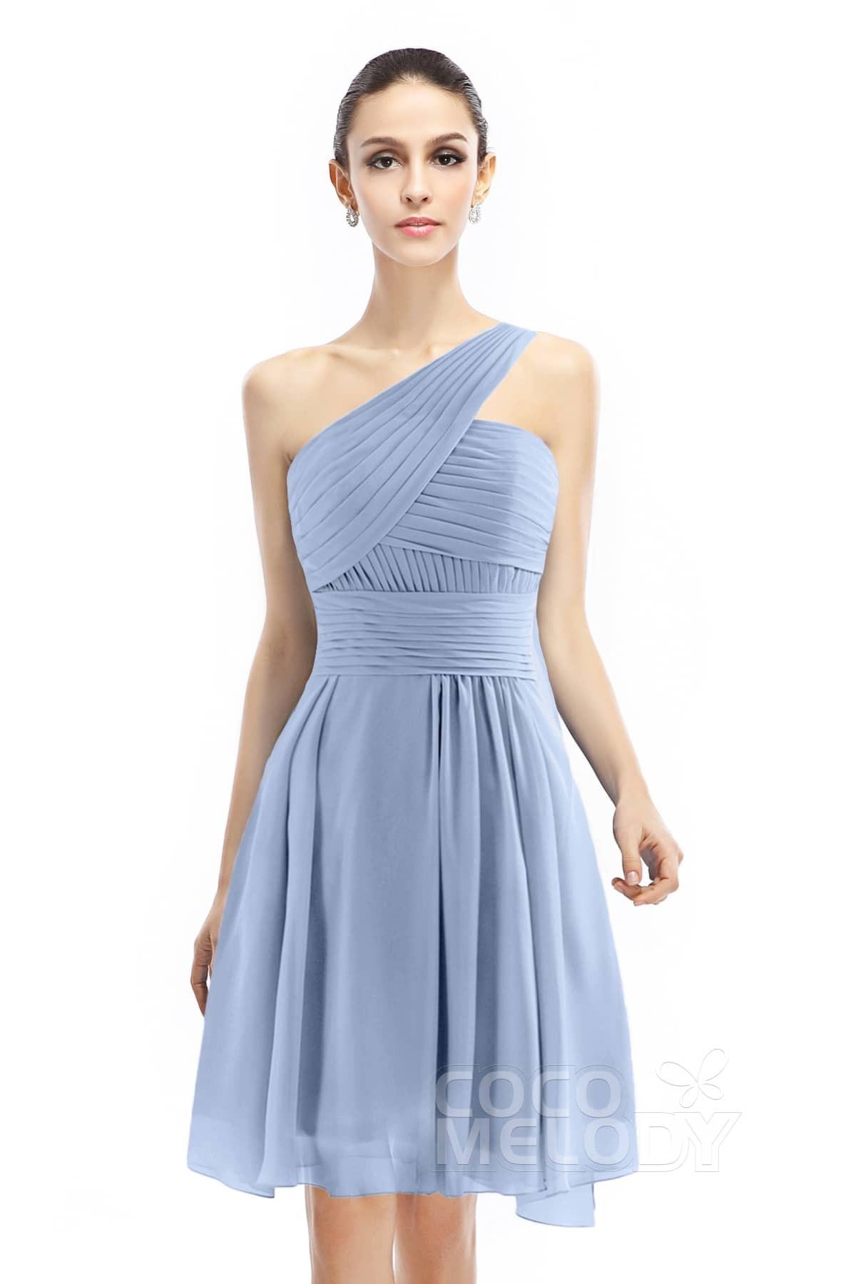 0eec4608791 A-Line Knee Length Chiffon Bridesmaid Dress COZK1401C