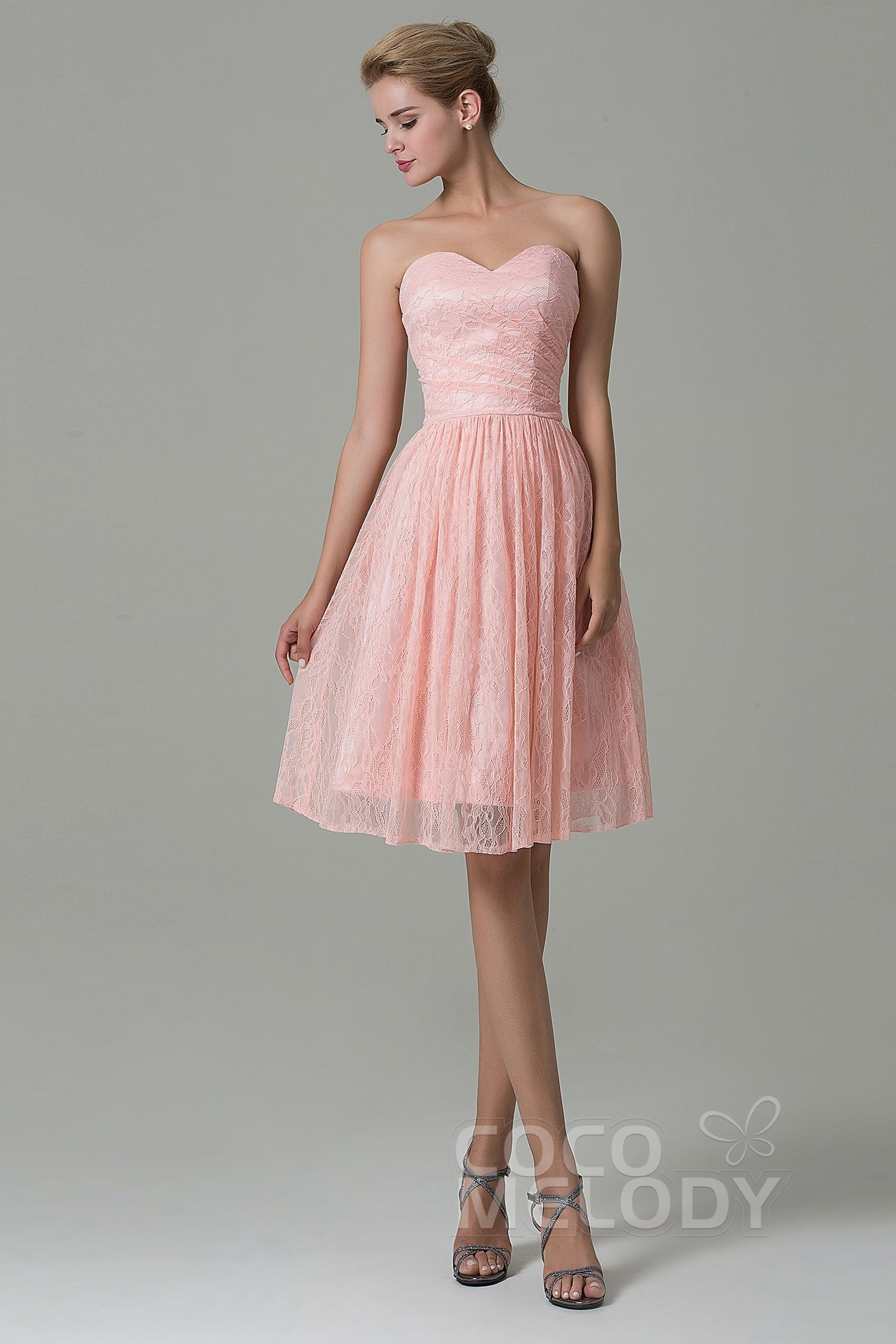 1ed80cac631 A-Line Lace Sleeveless Bridesmaid Dress COZK16008