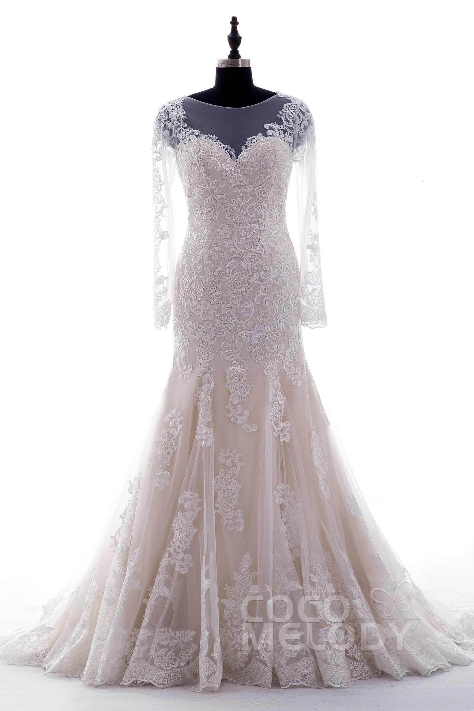 3a0b54fabe0e Trumpet-Mermaid Tulle Court Train Wedding Dress CWXT14051 | Cocomelody
