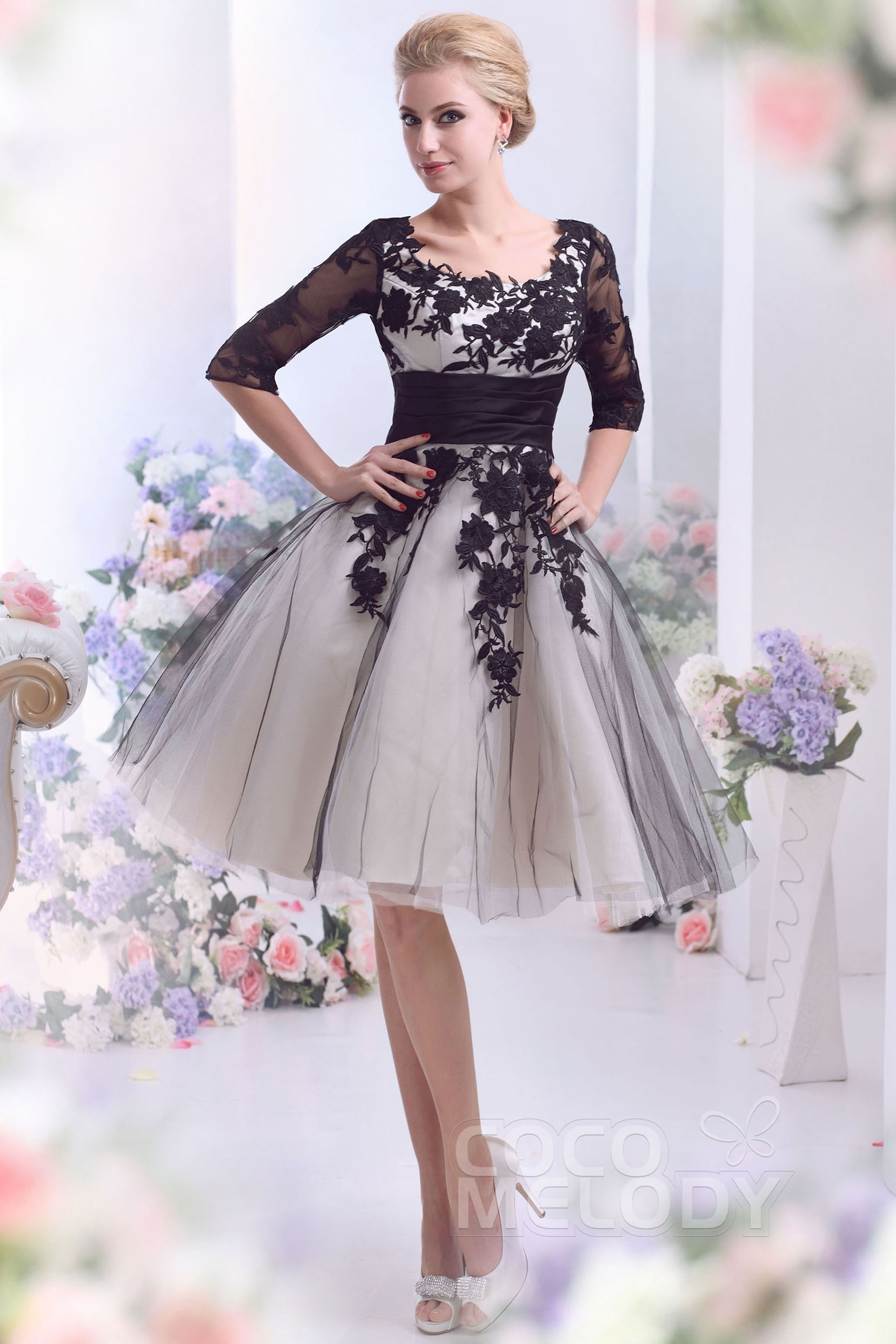 A-Line Square Knee Length Tulle Wedding Dress CWZK13002 ...