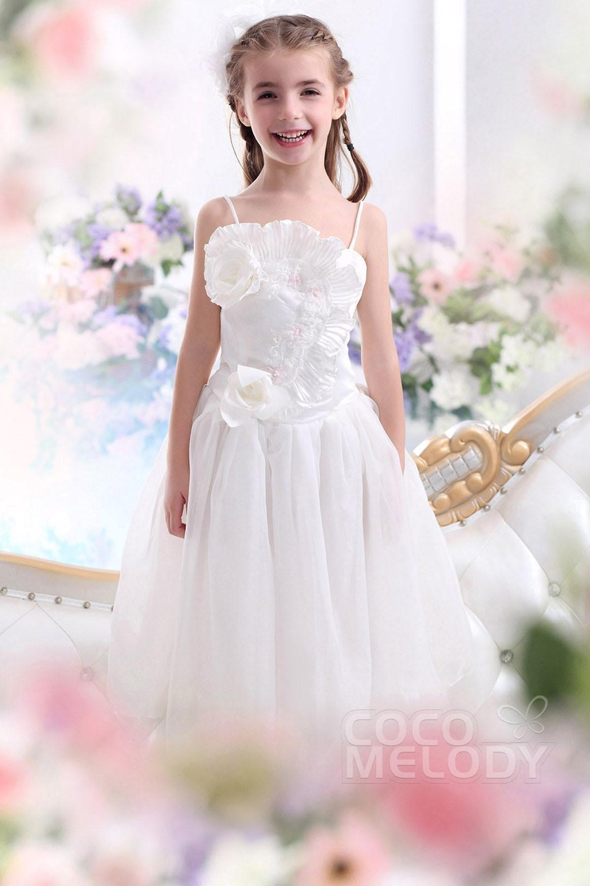 A Line Floor Length Organza Flower Girl Dress Ckza13005 Cocomelody