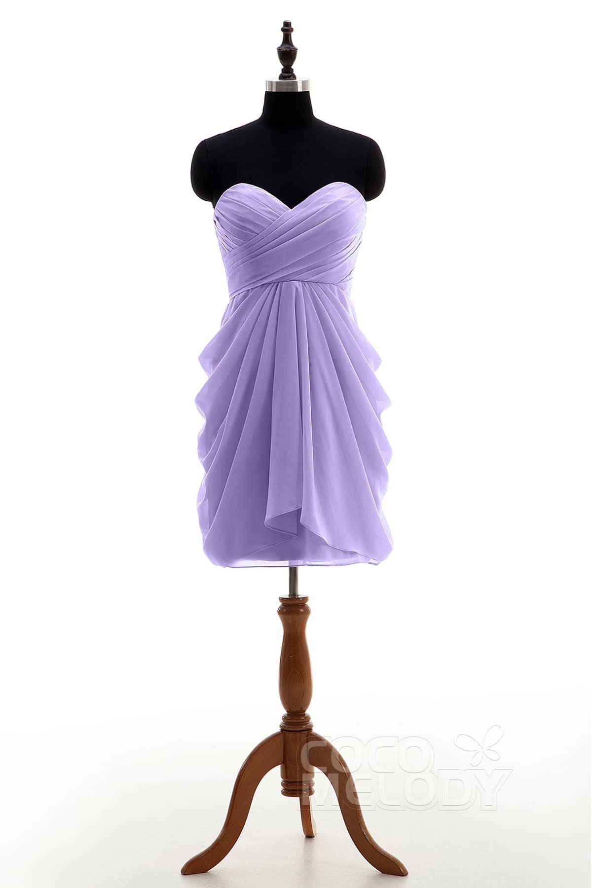 4be6c09a539 dreamy sweetheart natural knee length chiffon sleeveless zipper bridesmaid  dress pleating nb.
