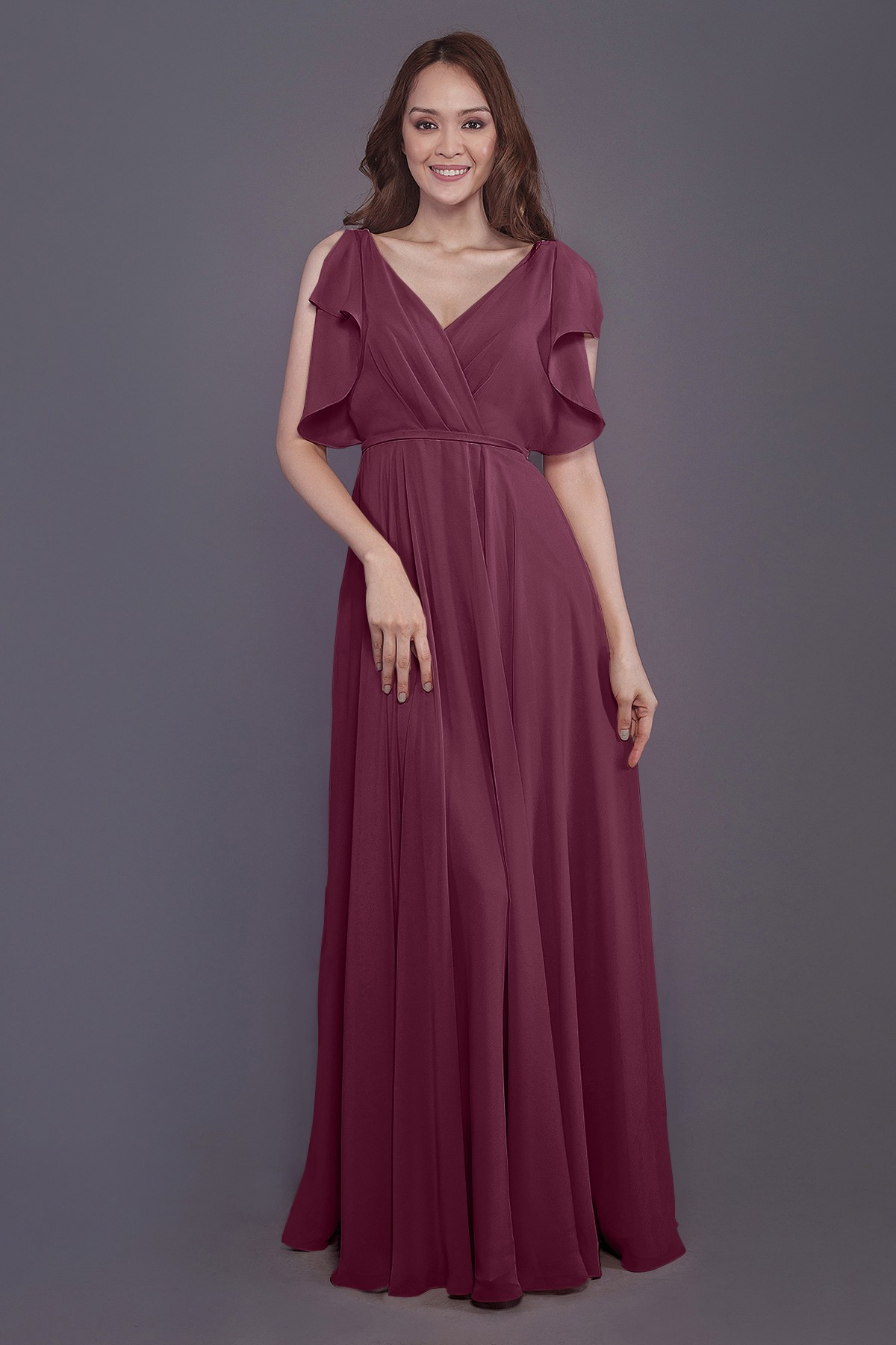 86fd35fd9cf Sheath-Column Floor Length Chiffon Bridesmaid Dress PR3568