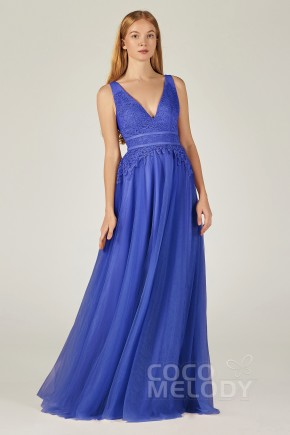 Royal Blue Lace Bridesmaid Dresses Cocomelody