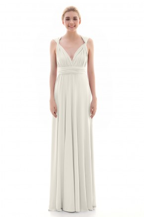 c3a6fc3356d Divine Sheath-Column Natural Floor Length Knitted Fabric Sleeveless  Convertible Bridesmaid Dress COEF16001 · 45 Colors