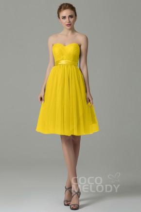 20b28a61bc6 A-Line Knee Length Tulle Convertible Bridesmaid Dress COZM15016 · 49 Colors