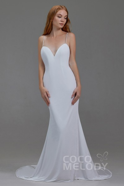 Trumpet-Mermaid Court Train Knitted Fabric Wedding Lining LA18001 37a0a5ebd435