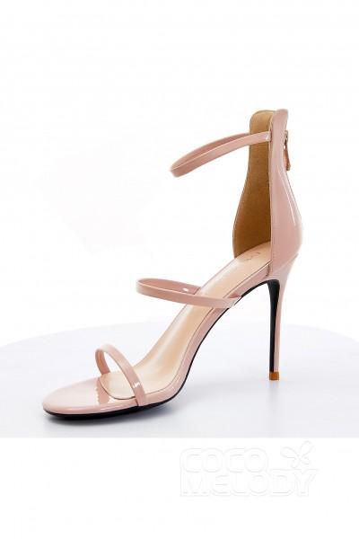 Stiletto Heel 10cm Pu P Toe Bridal Shoes Sws18002