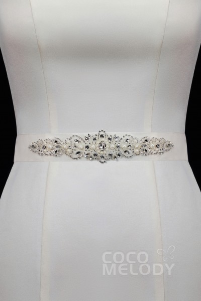 bd338593c9 Perfect Tulle Wedding Sash with Rhinestone and Imitation Pearl YD17003
