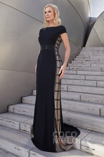 4e59d59620c Trumpet-Mermaid Sweep-Brush Train Knitted Fabric Dress
