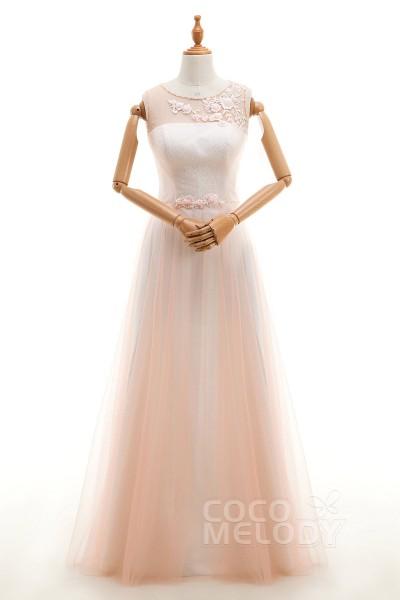 Vintage Sheath-Column Illusion Natural Floor Length Tulle Sleeveless Zipper Prom  Dress Appliques B14B2A009 63eb49939339