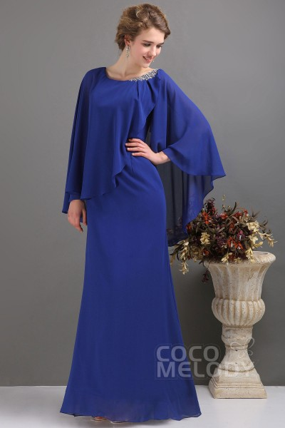 5ae3251d408 Latest Sheath-Column Floor Length Chiffon Mother Of The Bride Dress  COZF13017