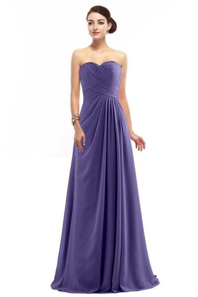 Delicate Sheath-Column Sweetheart Floor Length Chiffon Sleeveless Zipper Bridesmaid  Dress with Pleating COZF1401D c34d804f7339