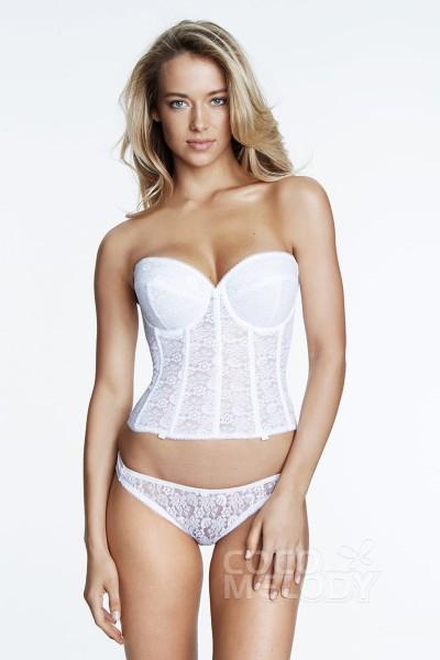 615ab0309091e Sweetheart Lace Corset Bridal Bra 7749