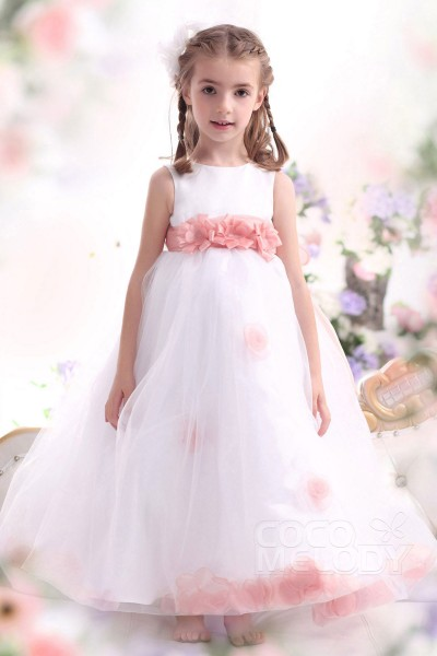 Flower girl dresses for less discount flower girl dresses cocomelody pretty a line tank top ankle length organza girls easter dress ckza13006 mightylinksfo