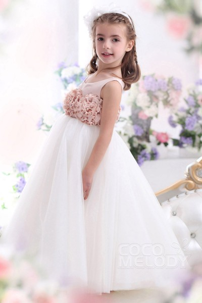 Cocomelody flower girl dresses for less discount flower girl dresses cute a line tank top floor length tulle flower girl dress ckza13003 mightylinksfo