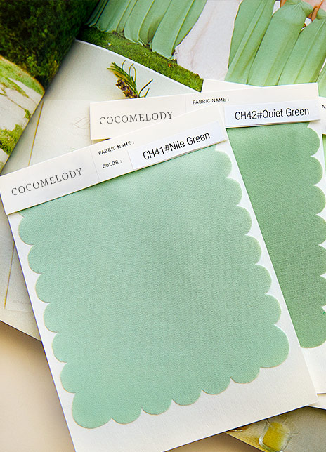 ad3e7c9b555d Cocomelody wedding dress and bridesmaid dress fabric swatch banner