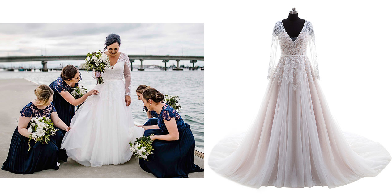 Plus Size Wedding Gowns With Sleeves: Plus Size Wedding Dresses, Custom Size Bridal Dresses